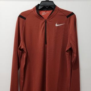 Nike Aero React 1/2 Half Zip Golf Pullover Orange